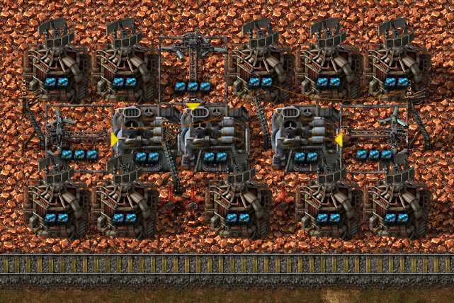 The most UPS efficient mining & smelting blueprint