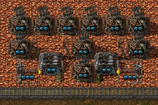 Factorio forums view topic the most ups efficient mining blueprint 4 2 furnaces 7 beacons per furnace circuit controlled stack inserters furnace speed 11 inserter items per stack 11995 note the inserters malvernweather Images