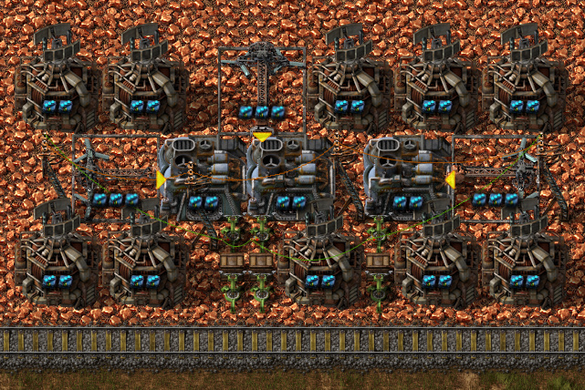 The most ups efficient mining smelting blueprint factorio forums blueprint 2 with circuit controlled stack inserters furnace speed 12 inserter items per stack 12 note 210 tick timer malvernweather Gallery